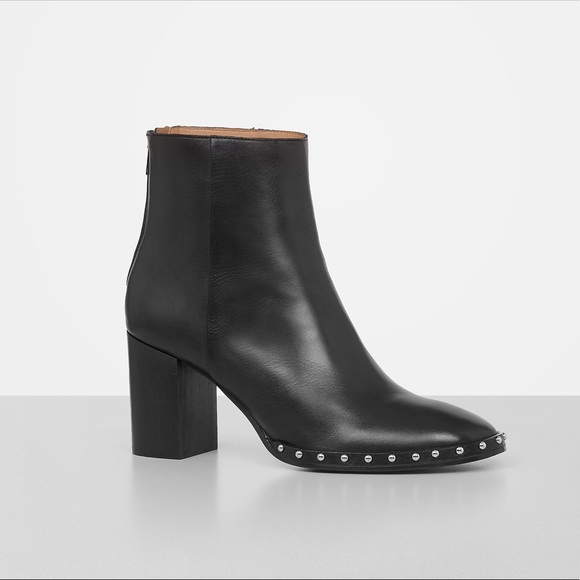 All Saints Shoes Allsaints Inez Leather Studded Block
